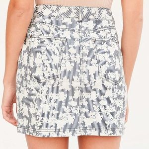 Urban Outfitters Skirts - UO / BDG / FLORAL PATTERN DENIM MINI SKIRT